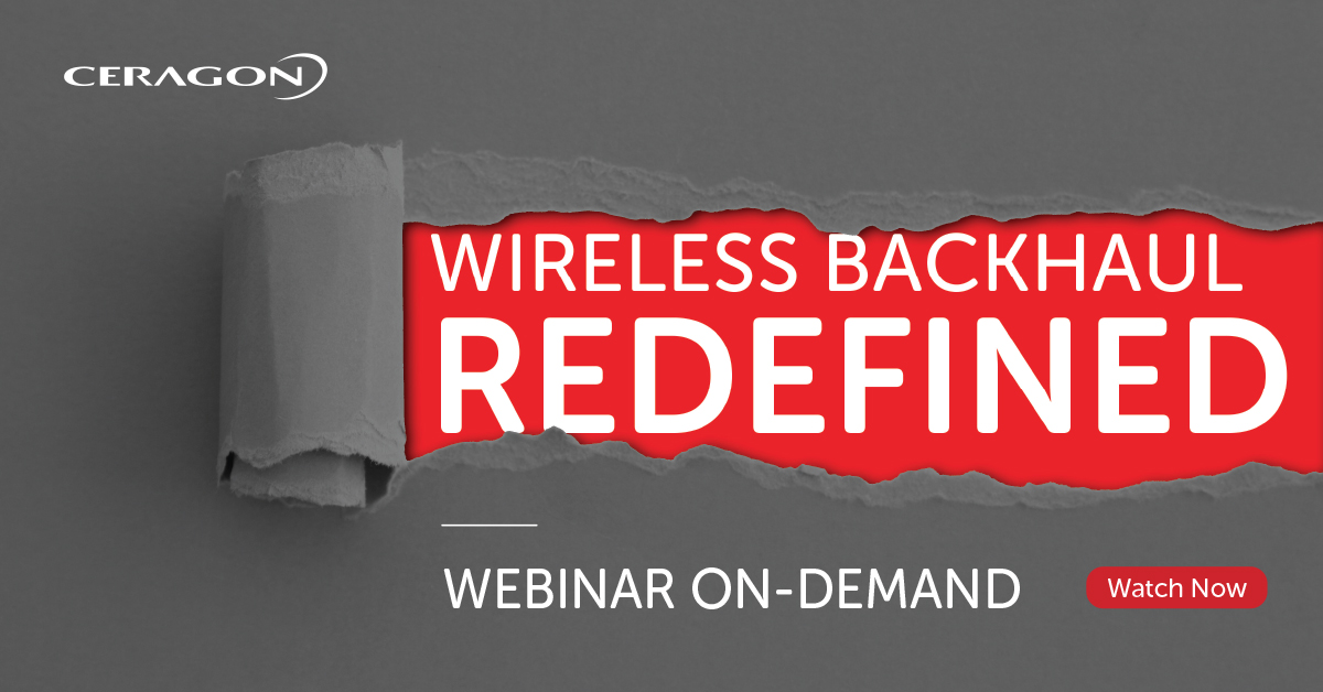Webinar - Disaggregated Wireless Backhaul